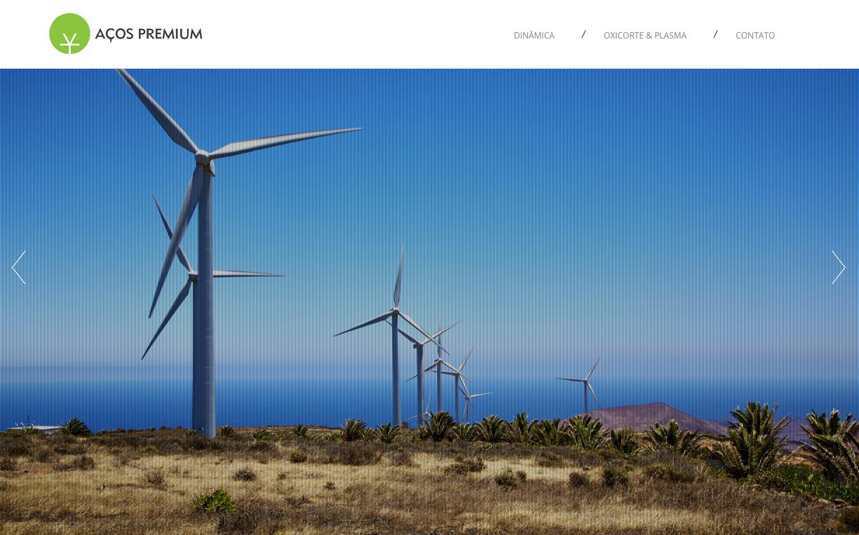 Criação de Website Responsivo para Aços Premium